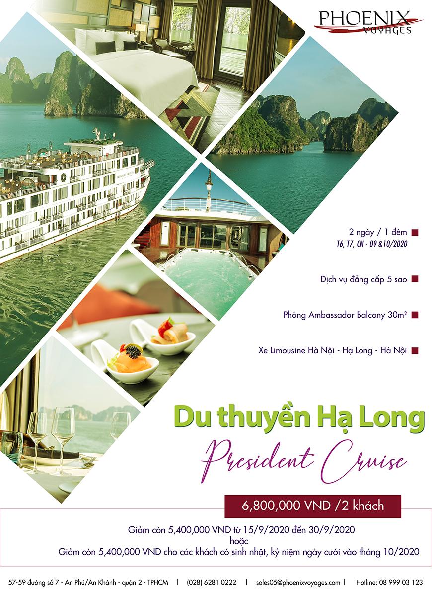 President-Cruise chỉ 6.800.000/2 người