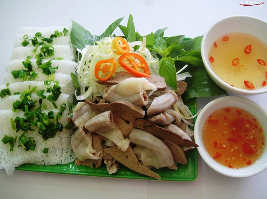 Bánh hỏi lòng heo Ninh Thuận